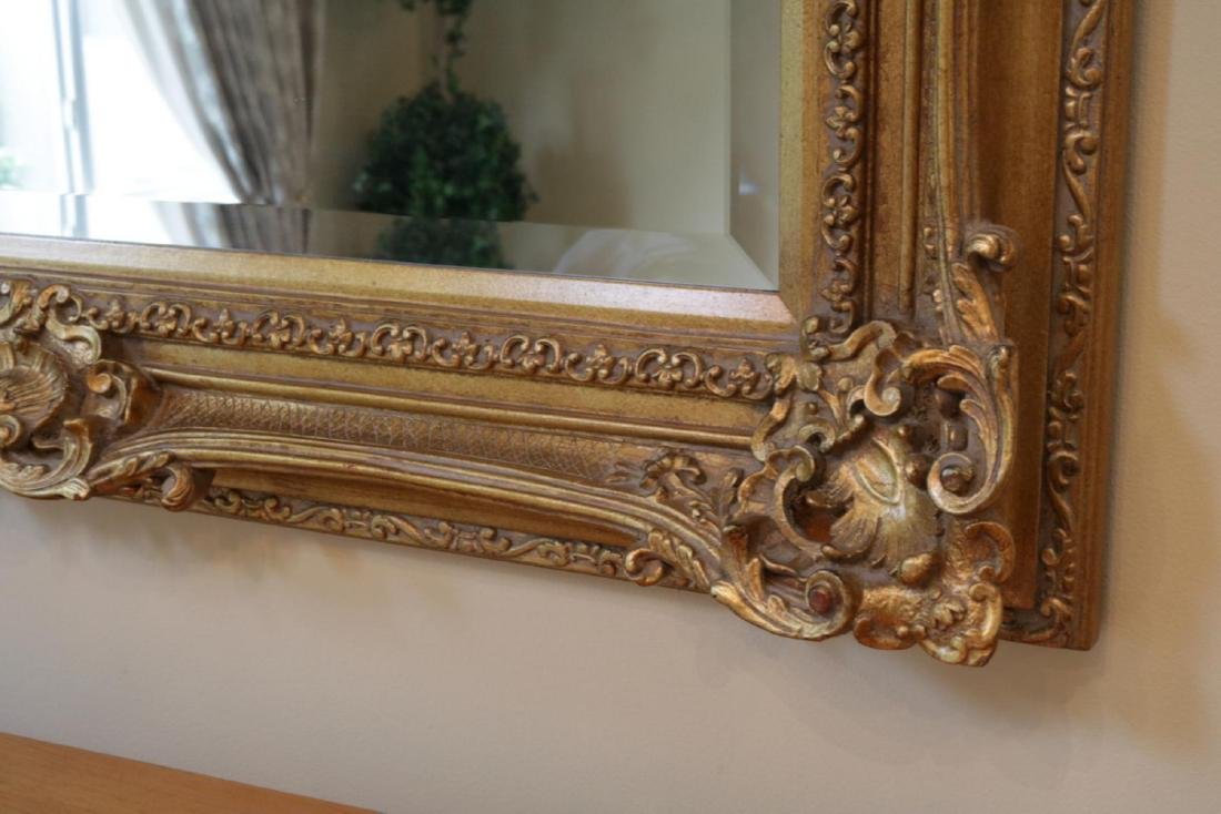 Large Contemporary Gold Leaf Mirror - 2