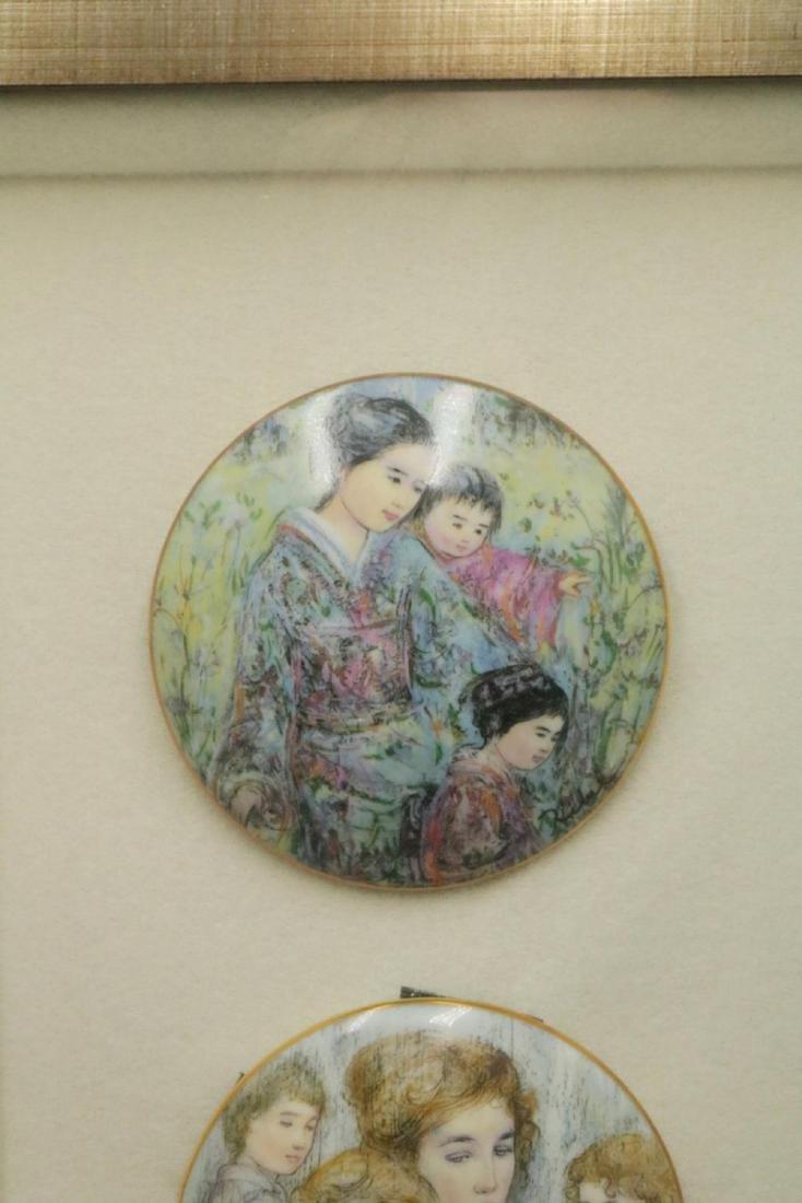 Edna Hibel Hard Paste Porcelain Plaques, Framed - 2