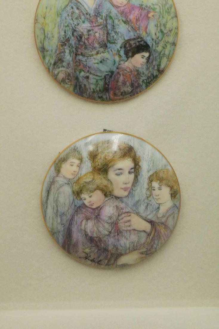 Edna Hibel Hard Paste Porcelain Plaques, Framed - 3