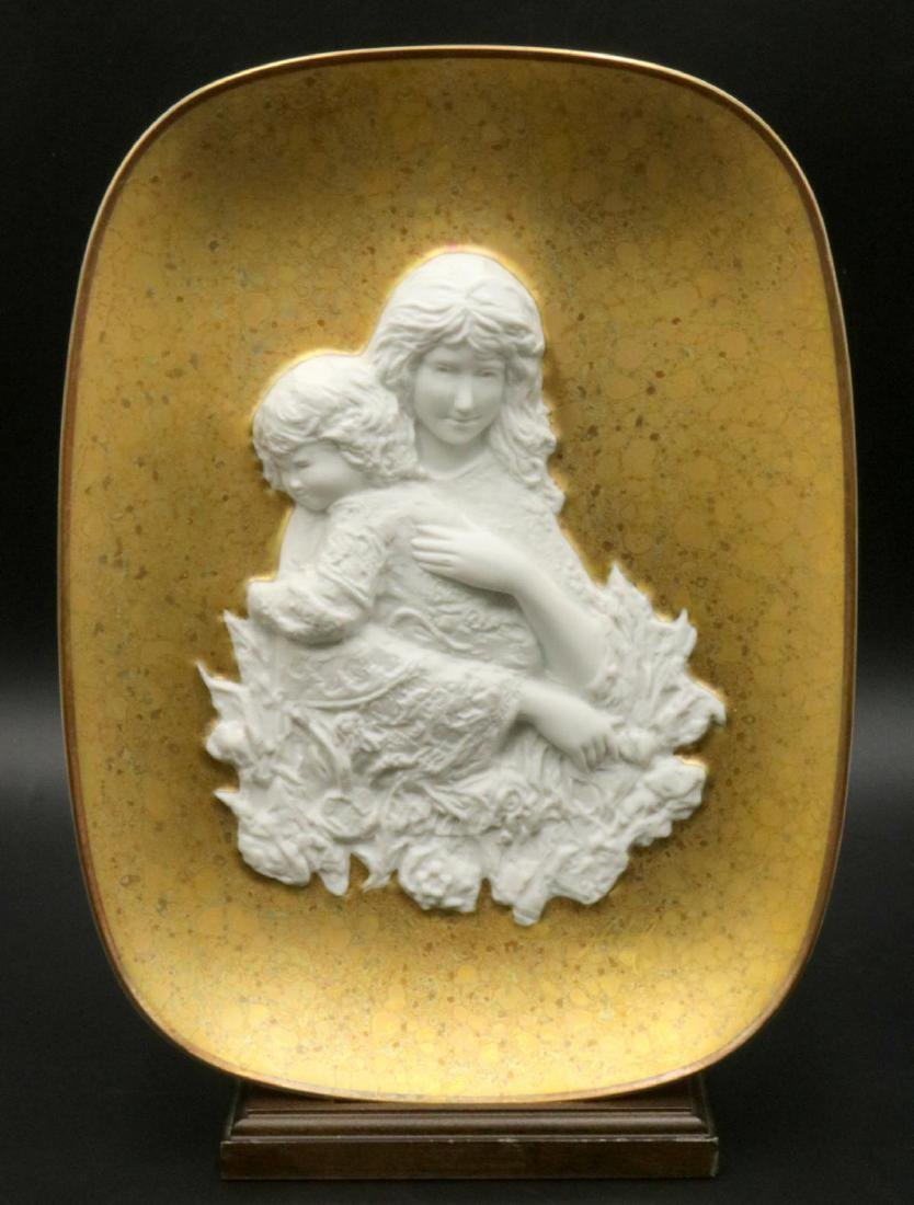 "Edna Hibel ""Genevieve and Child"" Porcelain Plate"
