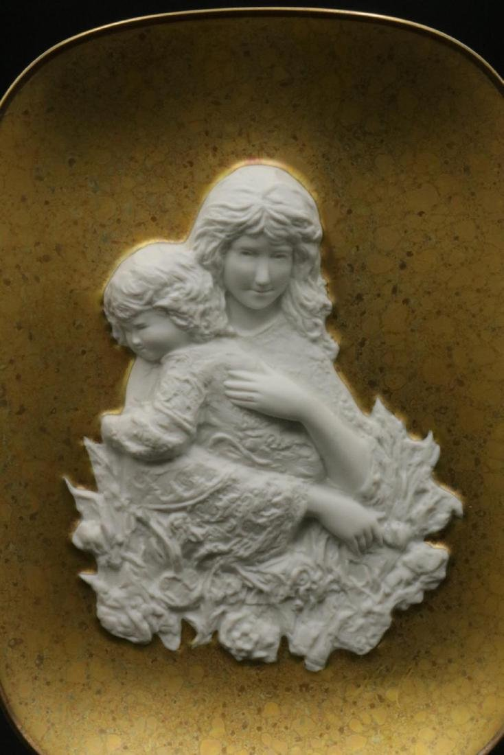 "Edna Hibel ""Genevieve and Child"" Porcelain Plate - 2"