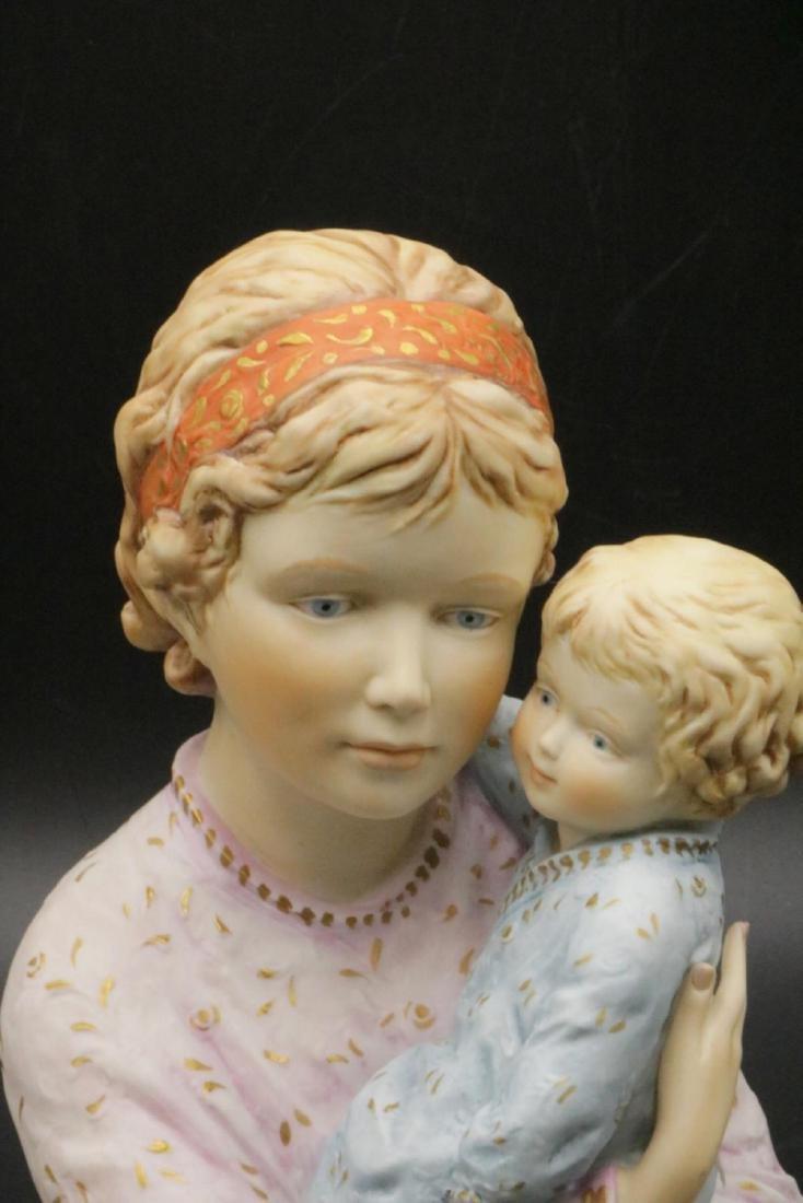 """Edna Hibel """"Judy and Child"""" Porcelain Sculpture - 2"""