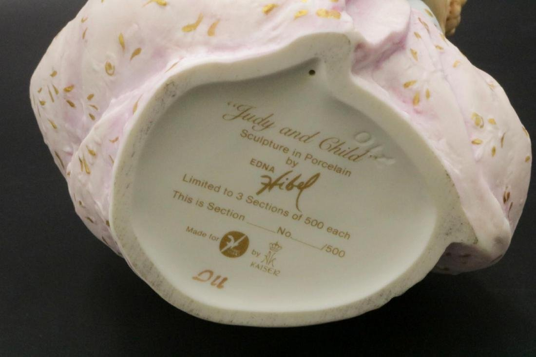 """Edna Hibel """"Judy and Child"""" Porcelain Sculpture - 3"""