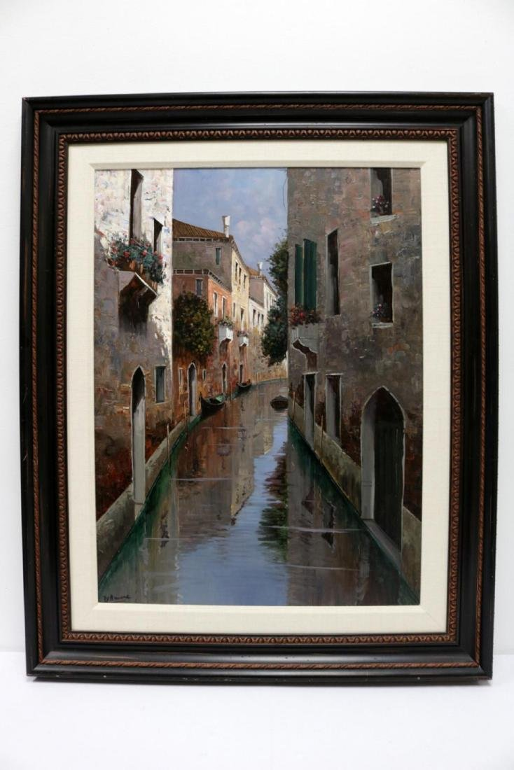 Signed D'Amore Oil Painting on Canvas - 2