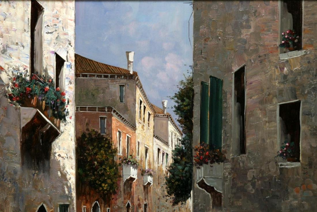 Signed D'Amore Oil Painting on Canvas - 3