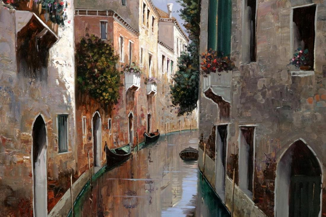 Signed D'Amore Oil Painting on Canvas - 4