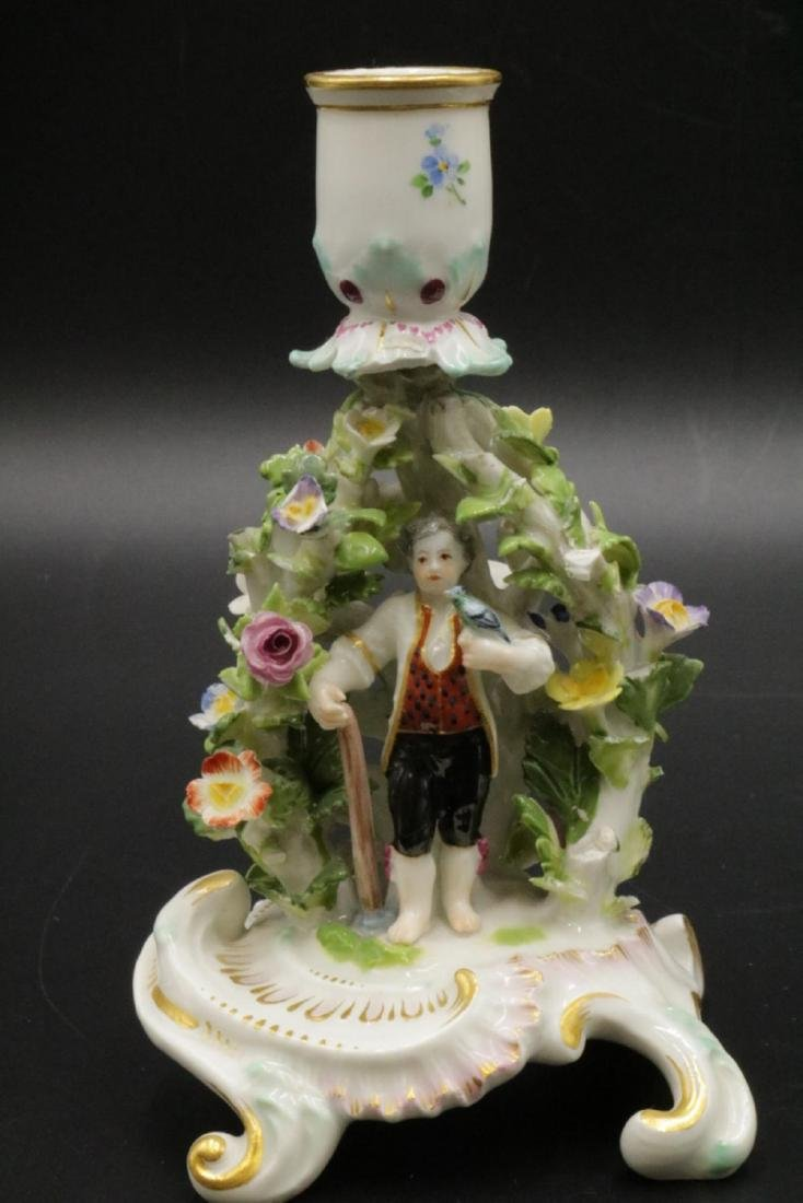 Pair of Meissen Porcelain Candleholders - 2
