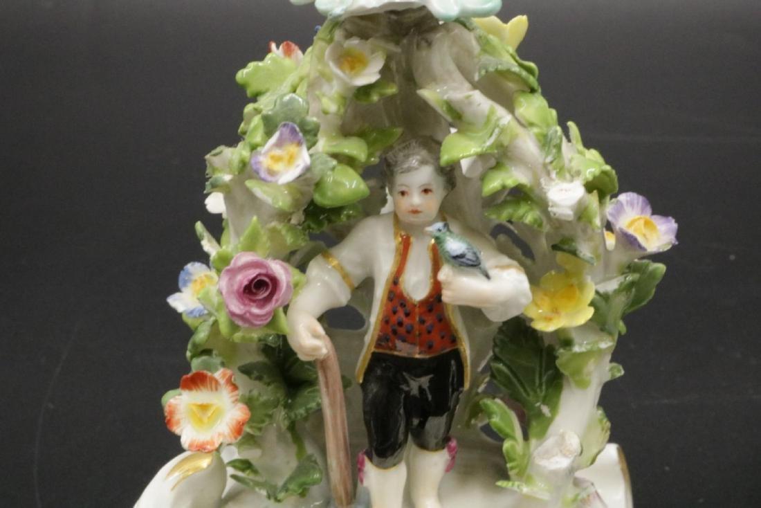 Pair of Meissen Porcelain Candleholders - 4