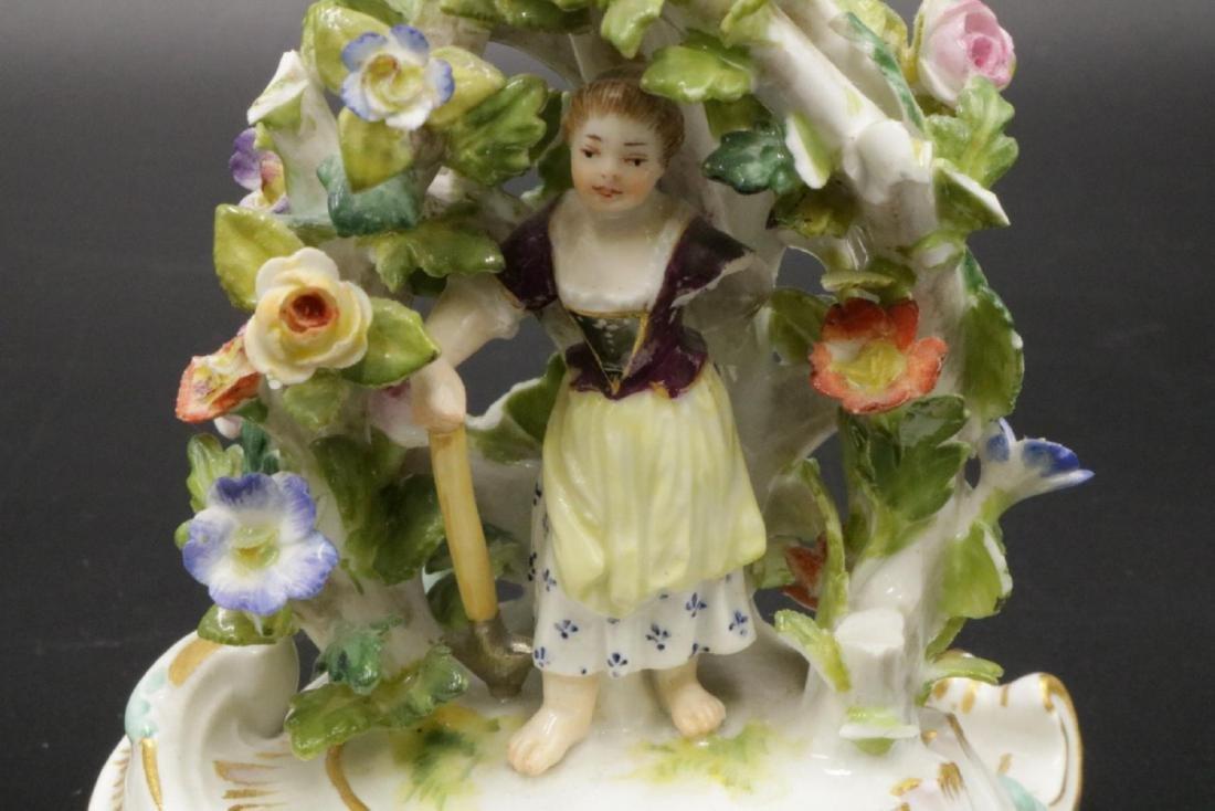 Pair of Meissen Porcelain Candleholders - 5