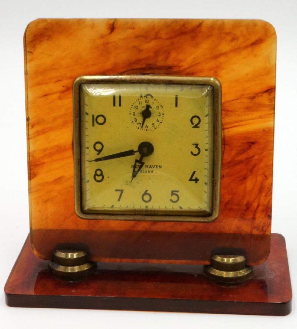 Vintage New Haven Lucite Clock