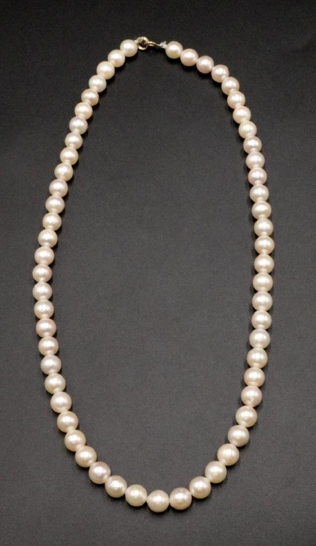 14Kt & Pearl Necklace
