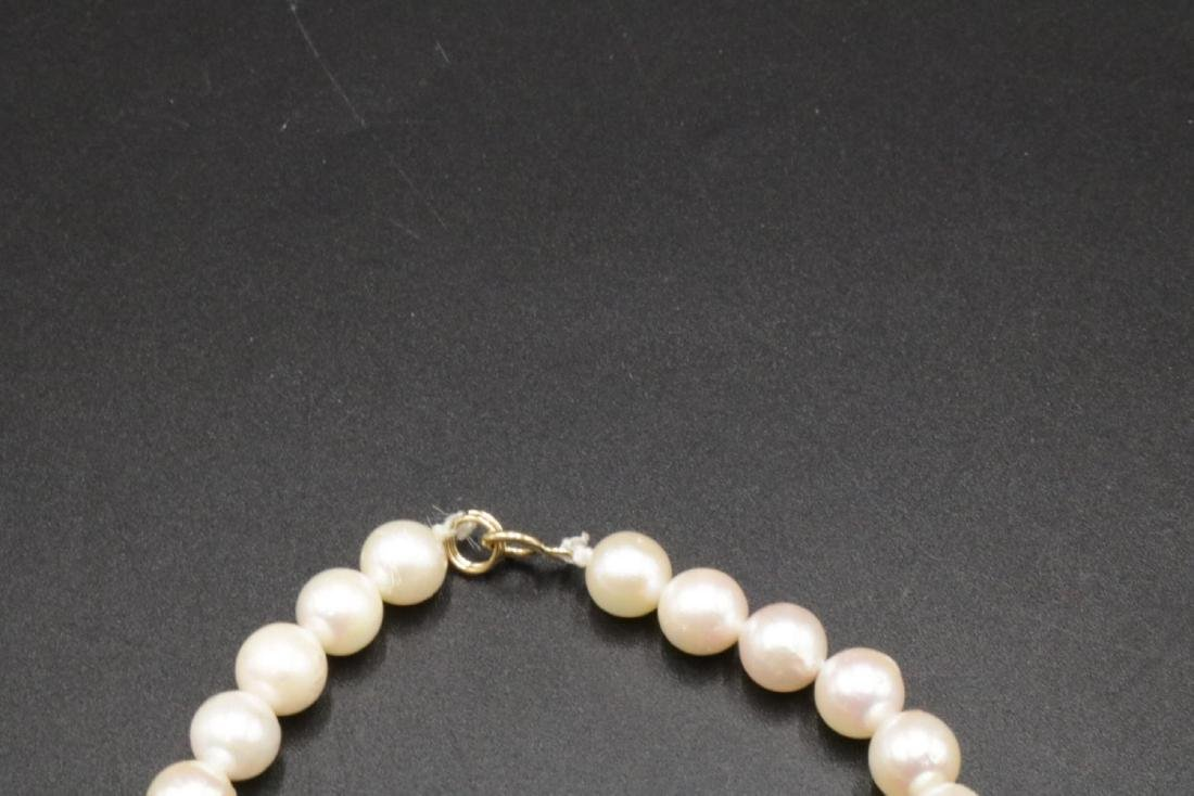 14Kt & Pearl Necklace - 2