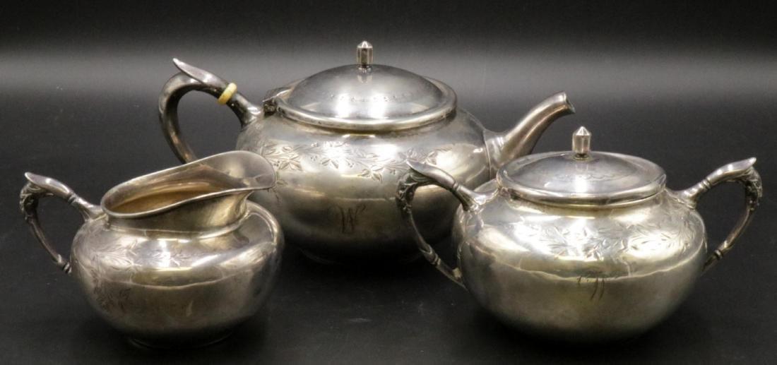 3 Pc. Gorham Sterling Silver Tea Set