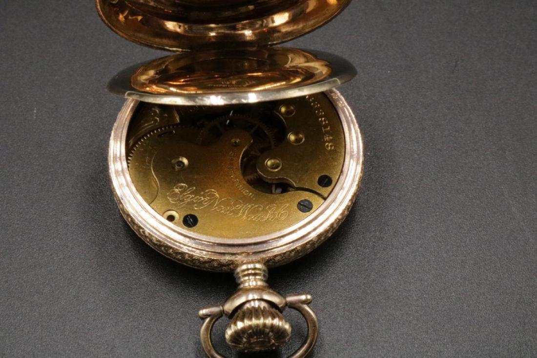 Antique Elgin 14Kt Pocket Watch - 4