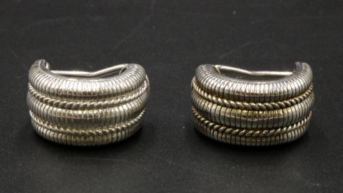 Judith Ripka Sterling Silver Earrings