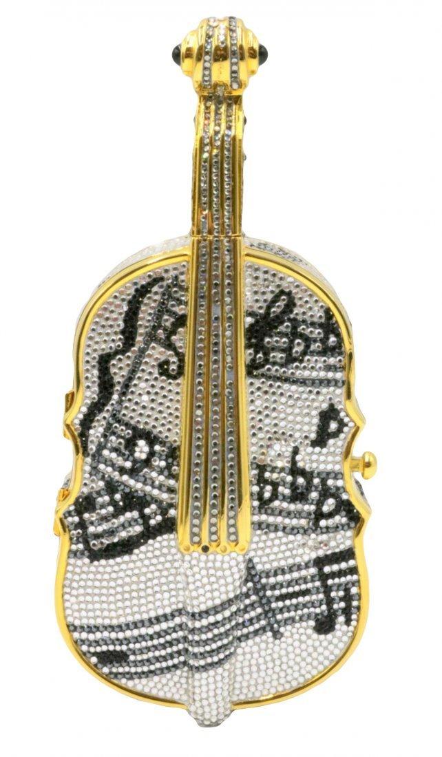 "Rare Judith Leiber ""Cello"" Swarovski Crystal Evening"
