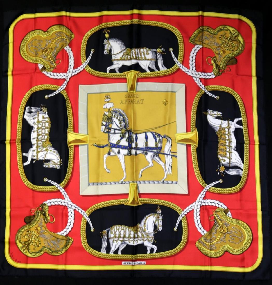 "Hermes 100% Silk ""Grand Apparat"" Scarf"