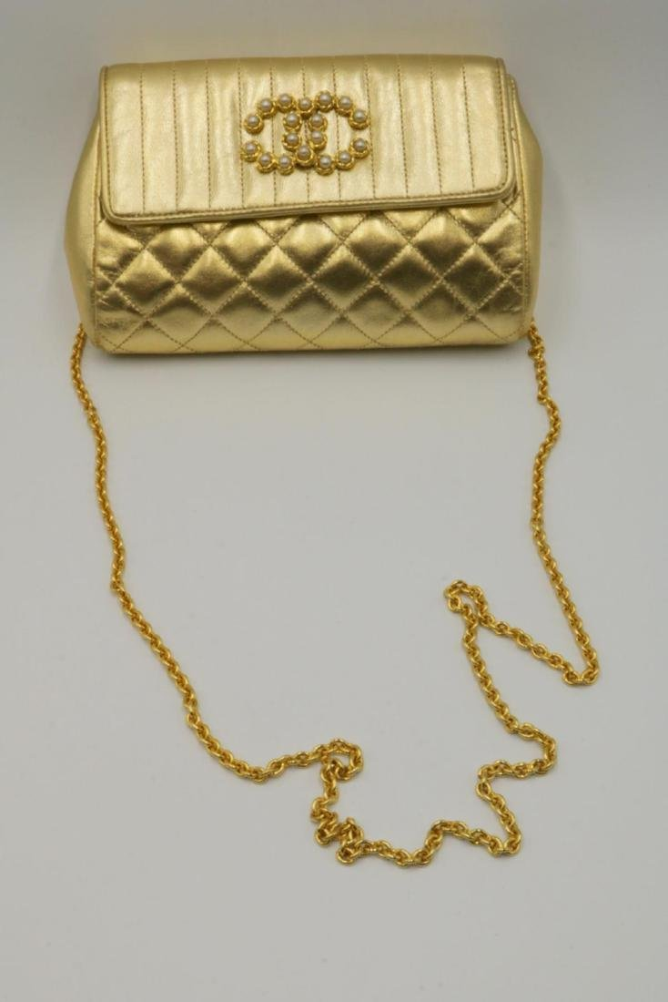 Beautiful Chanel Gold Leather Purse - 5