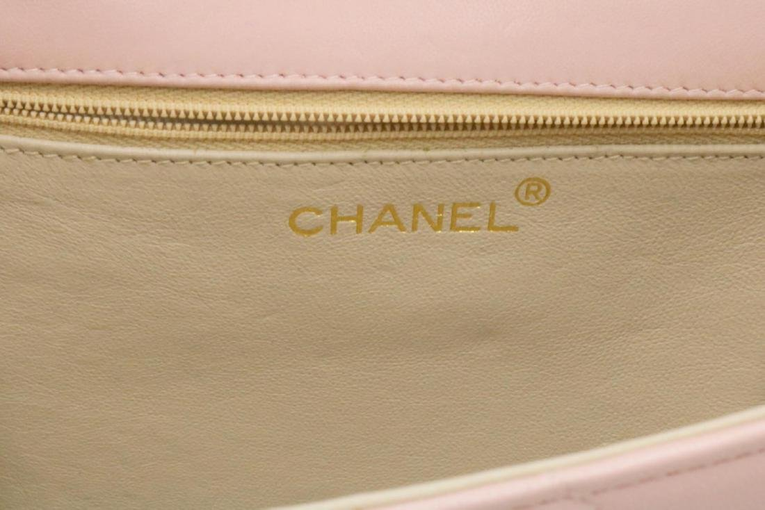 Chanel Pink Quilted Leather & Pearl Logo Purse - 6