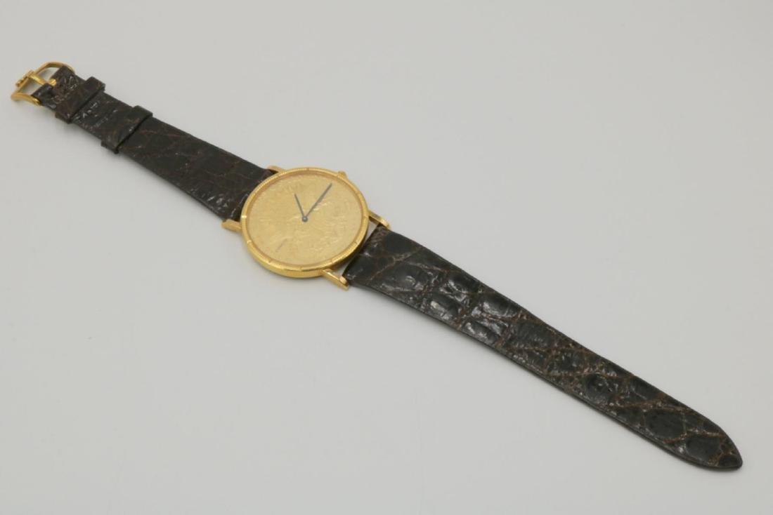 Corum 22Kt & 18Kt Coin & Crocodile Strap Watch - 6