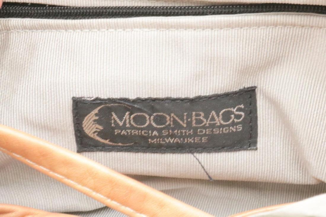 Patricia Smith Leather Moon Bag Purse - 3