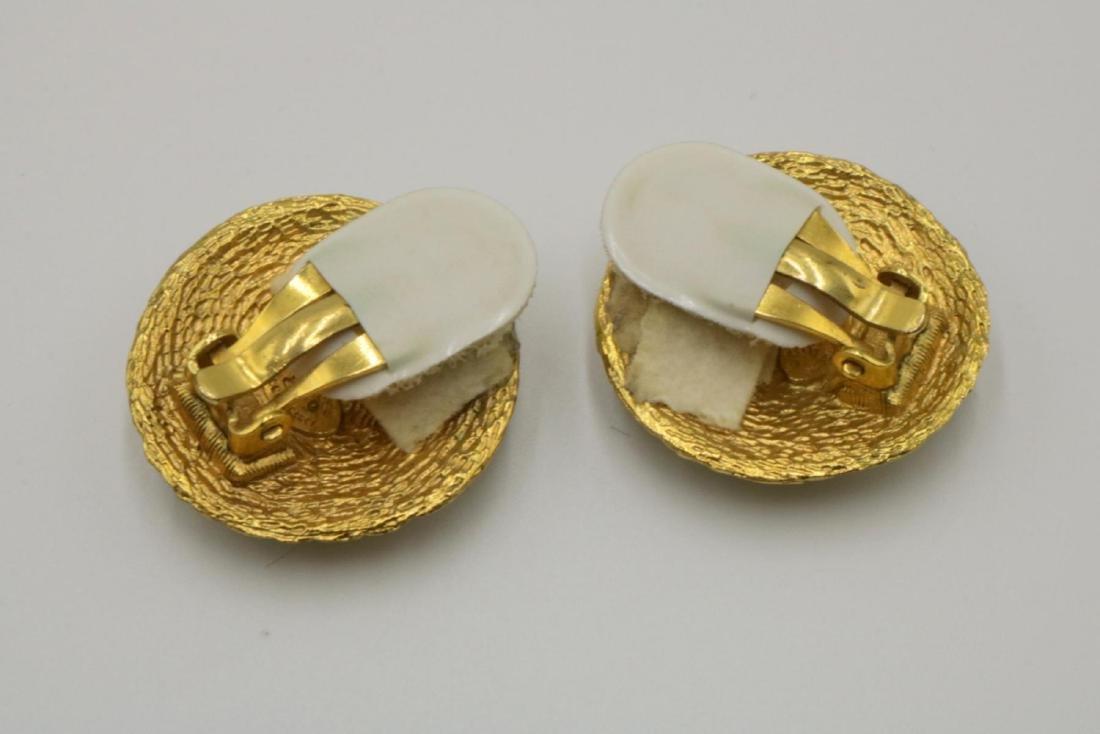 Vintage Chanel Gold Tone Earrings - 3