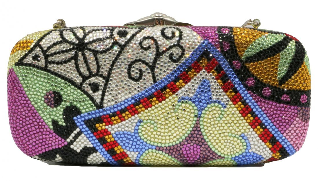 Judith Leiber Multi-Colored Swarovski Crystal Clutch