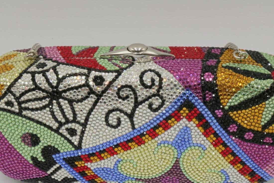 Judith Leiber Multi-Colored Swarovski Crystal Clutch - 2