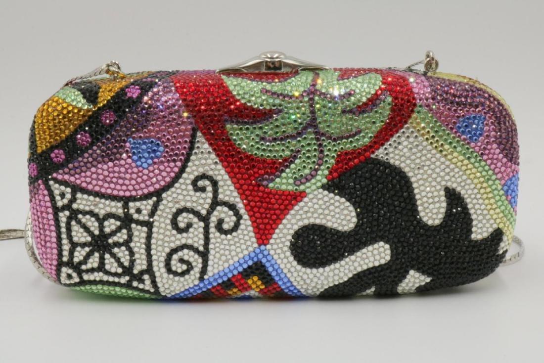 Judith Leiber Multi-Colored Swarovski Crystal Clutch - 3