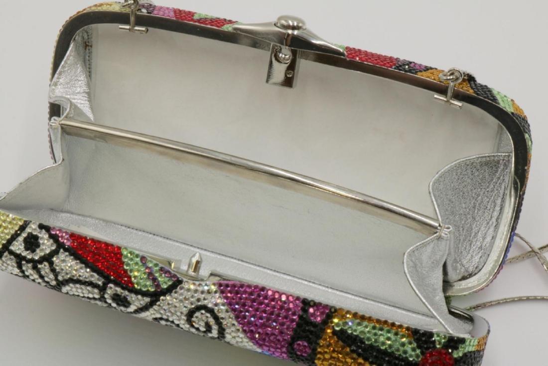 Judith Leiber Multi-Colored Swarovski Crystal Clutch - 5