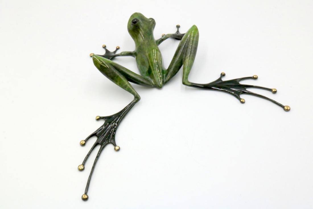 Tim Cotterill (British, B. 1950) Polychrome Frog Bronze - 4