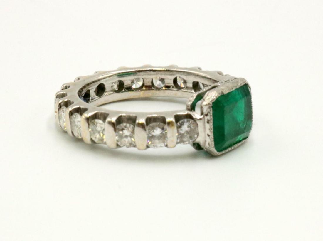 14Kt Emerald & Diamond Band - 2