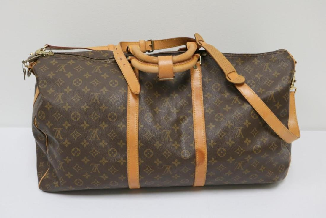 Louis Vuitton Canvas Duffle Bag - 7