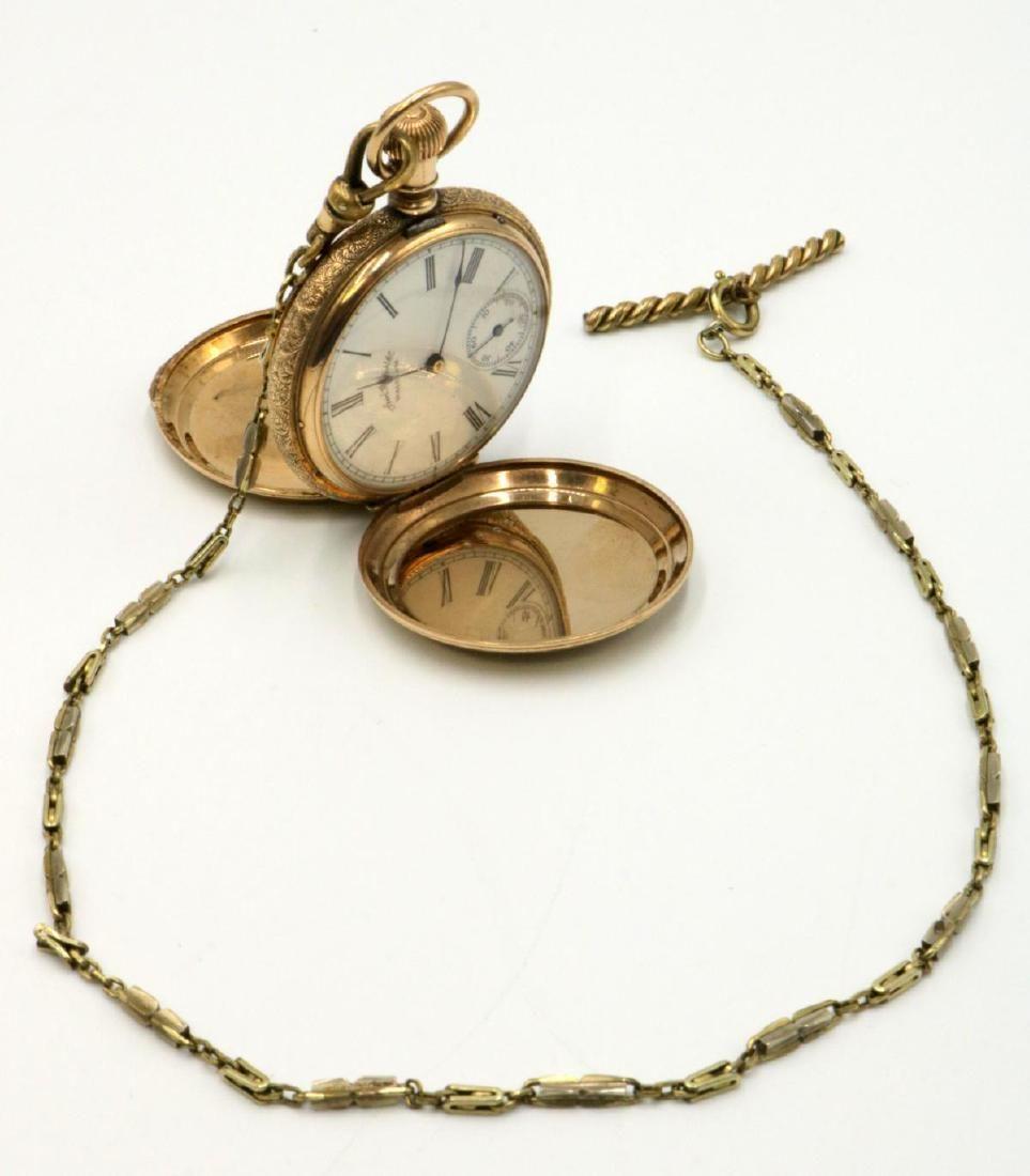 1888 American/ Waltham Gold Filled Pocket Watch w/ Fob