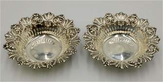 Whiting & Co. Sterling Candy Dishes