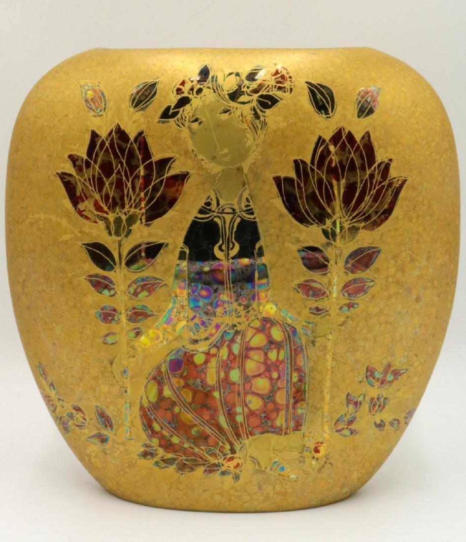 Rosenthal Bjorn Wiinblad Painted Porcelain Vase