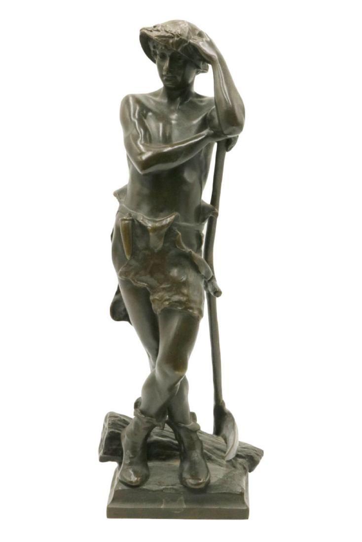 19th C. Eugene Marioton Bronze Sculpture