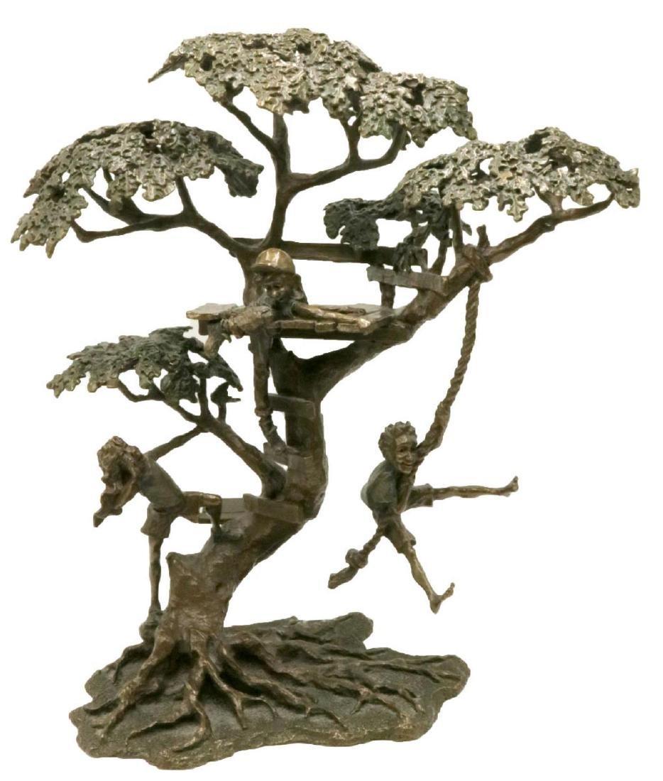 "Mark Hopkins ""Tree House"" Bronze Sculpture"