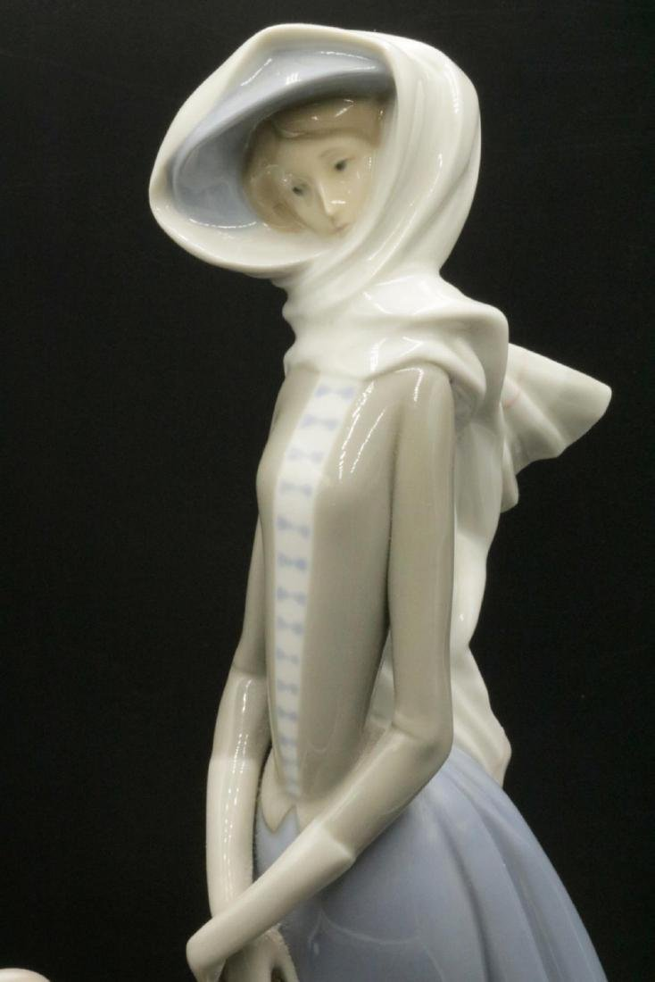 """Lladro """"Lady with Grey Hound"""" #4594 Porcelain Group - 2"""