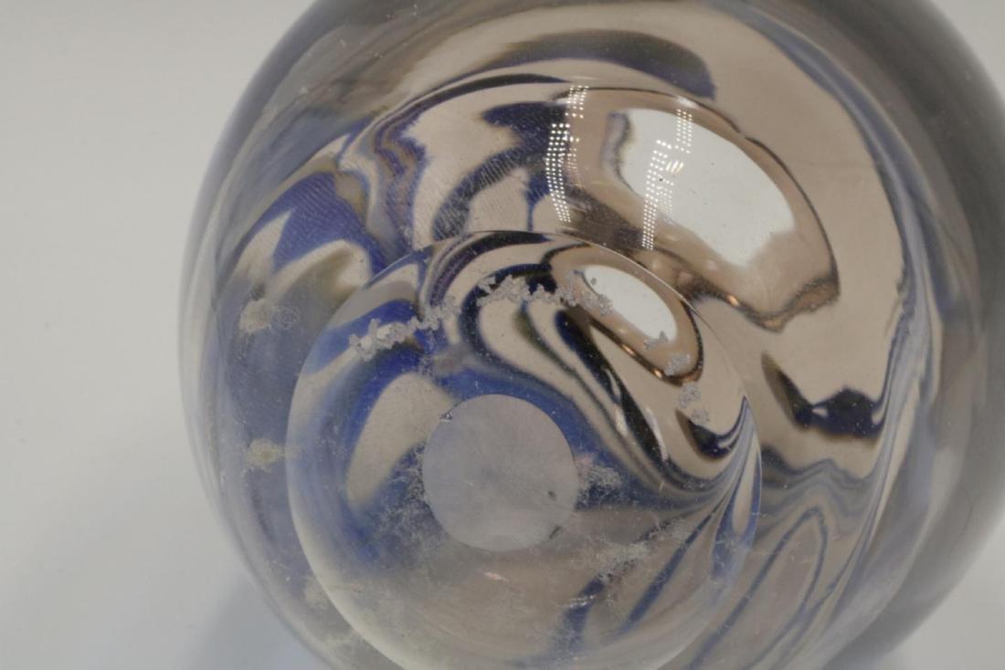Signed Studio Art Glass Vase - 4