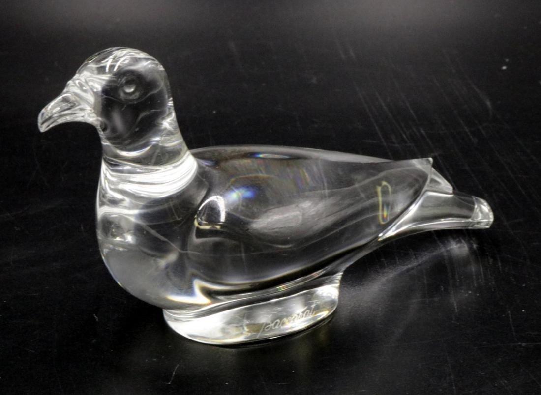 Baccarat Crystal Bird Paperweight