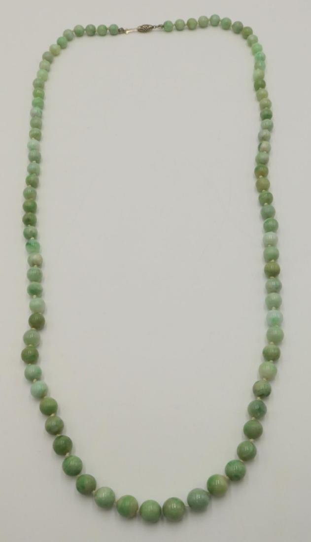 14Kt Jaded Beaded Necklace