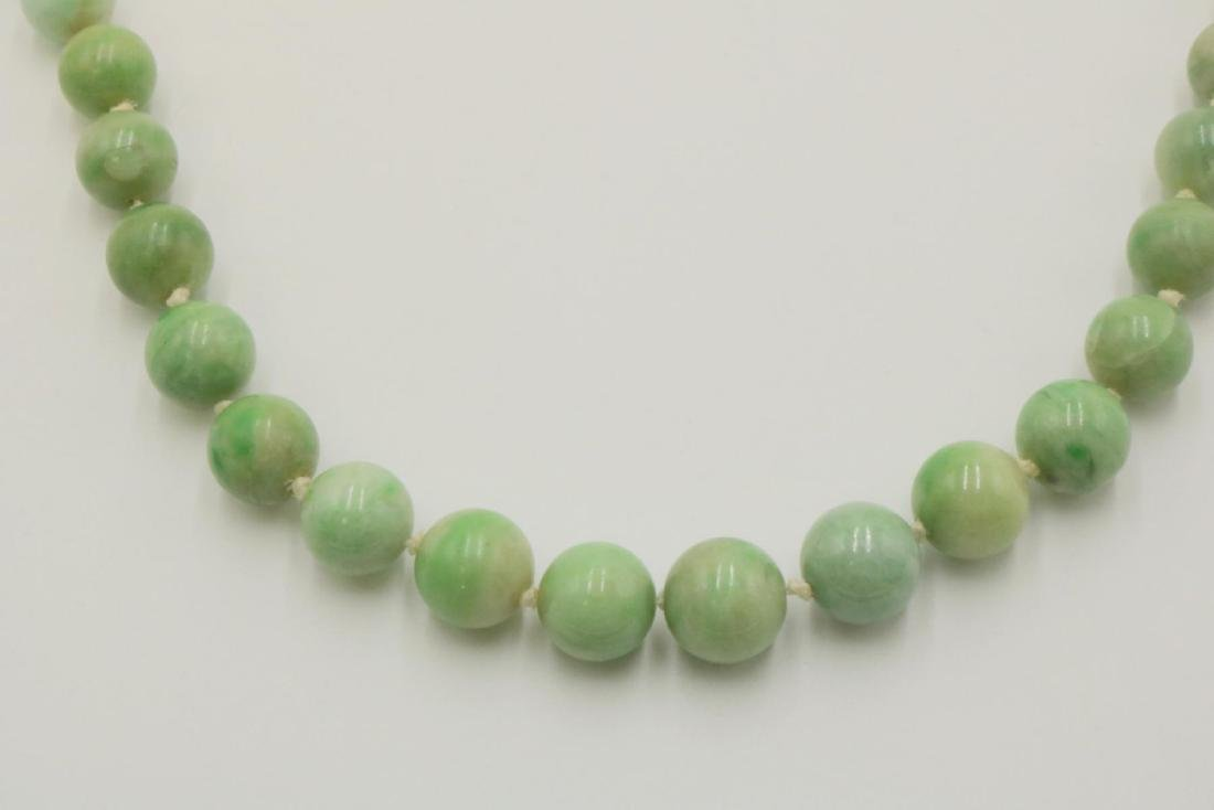 14Kt Jaded Beaded Necklace - 2