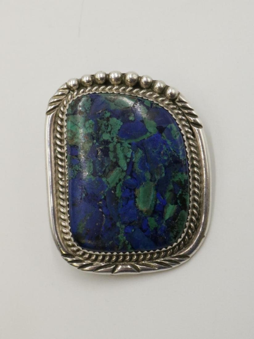 Native American AMB Sterling & Stone Pendant
