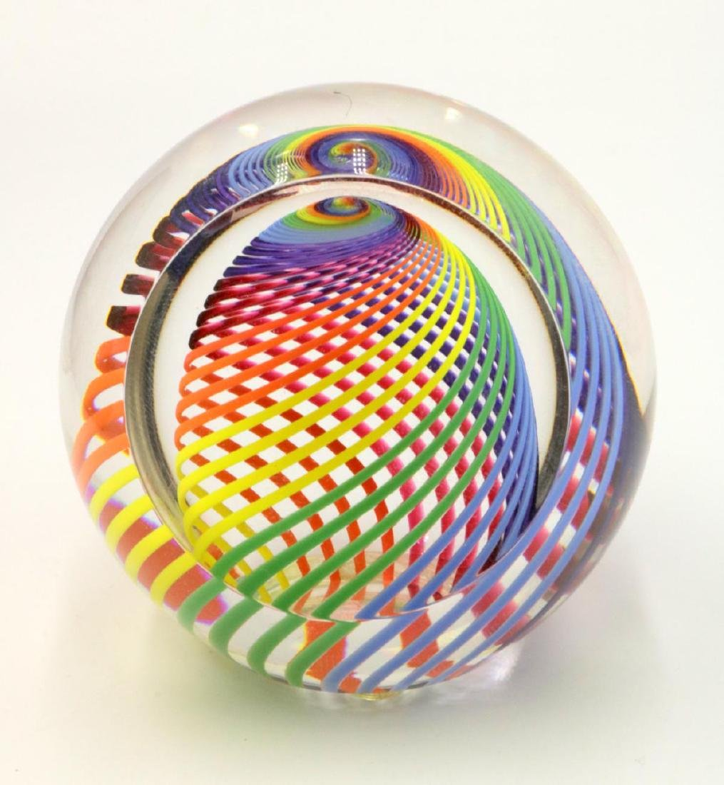 Signed Haris Art Glass Paperweight