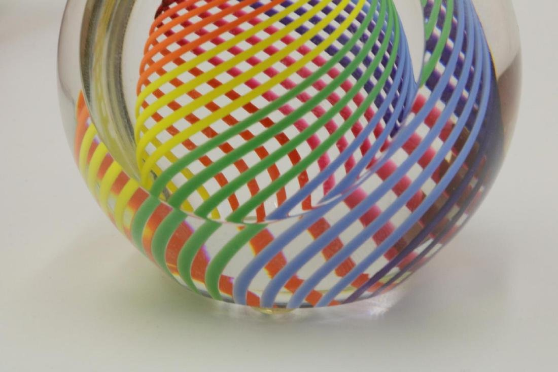 Signed Haris Art Glass Paperweight - 2