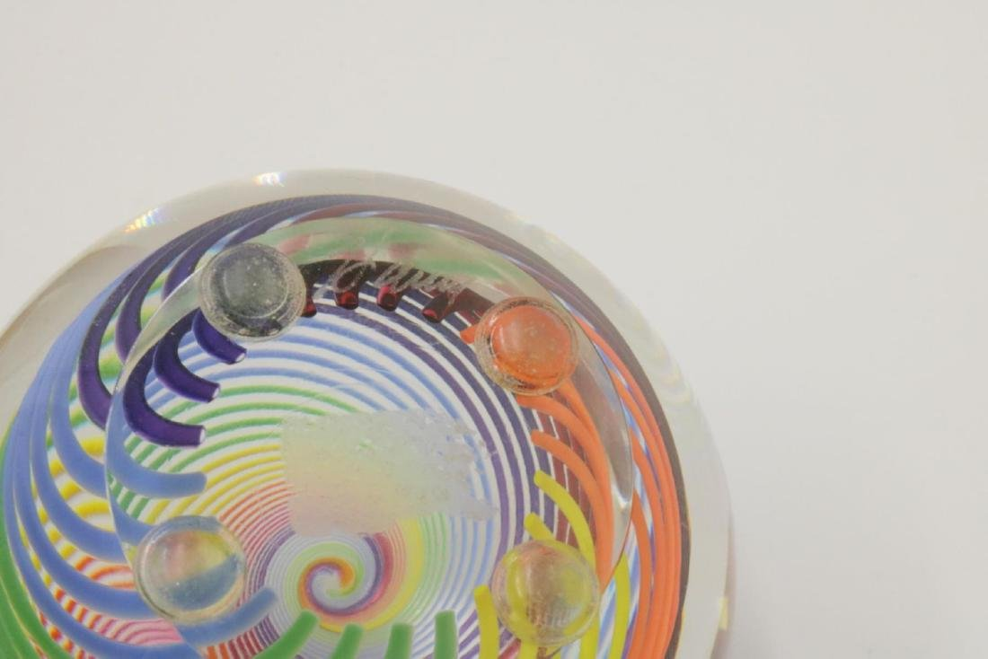 Signed Haris Art Glass Paperweight - 3