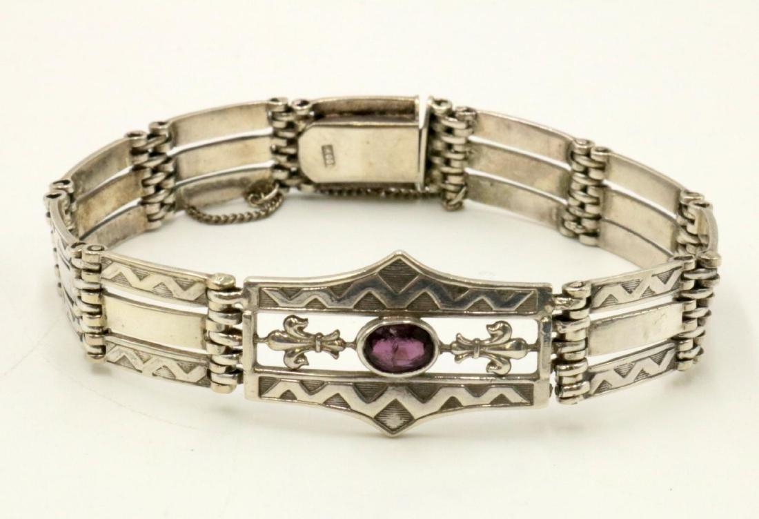 Sterling Silver & Amethyst Bracelet