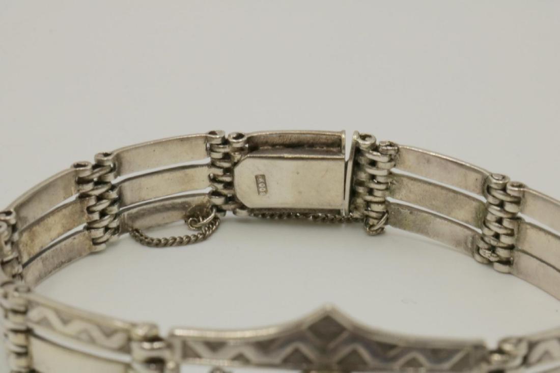 Sterling Silver & Amethyst Bracelet - 2