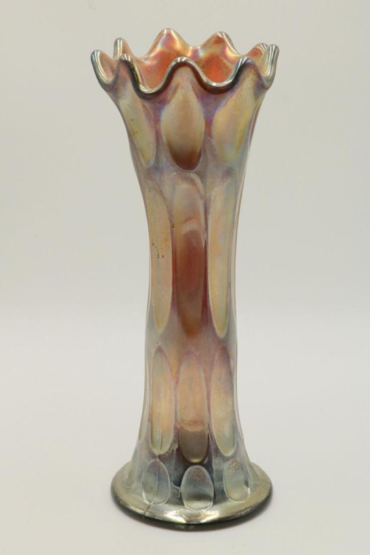 Unsigned Iridescent Art Glass Vase